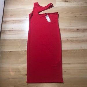 BNWT Boohoo midi cutout dress